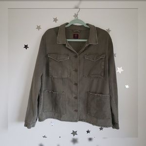 Boom Boom Jeans Jackets & Coats - BoomBoom Olive Green Military Skull/Rose Jacket XL